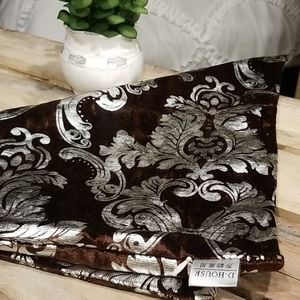 Brown & Silver pillow cover